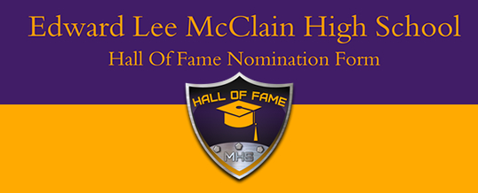 Edward Lee McClain Hall Of Fame Nomination